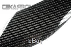2014 2016 Kawasaki Z1000 Panneaux Latéraux En Fibre De Carbone Tissés En Sergé 2x2