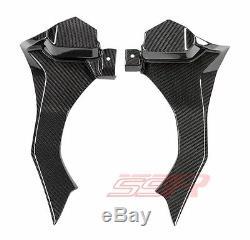 2015 2016 Yamaha R1 Air Ram Intake Tube Cover Dash Fairing Twill Carbon Fiber