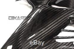 2015 2017 Kawasaki Ninja H2 Carbon Fiber Panneaux De Réservoir Avant 2x2 Sergé