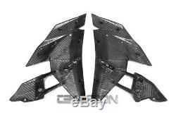 2015 2017 Kawasaki Ninja H2 Fibres De Carbone Grandes Carénages Latéraux 2x2 Sergé