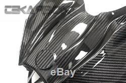 2015 2019 Kawasaki Ninja Cowl Carénage Avant Fibre De Carbone H2 2x2 Twill Tissages