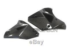 2015 2019 Panneaux Latéraux Inférieurs En Fibre De Carbone Kawasaki Ninja H2 2x Tissés En Sergé
