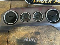 2015-2020 Ford Mustang Dash Fibre De Carbone Straight Twill Bezel Oem Withgauges