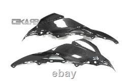 2016 2019 Kawasaki Zx10r Fibre De Carbone Upper Side Caréages 2x2 Twill Twill Twill Taves