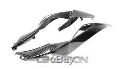 2019 2020 En Fibre De Carbone Kawasaki Zx6r Tail Carénages Latéraux 2x2 Sergé Tissages