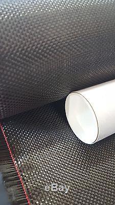 25 Mètres! Tissu En Fibre De Carbone / Tissu 2x2 Twill Weave 5,7 Oz, 50 Wide