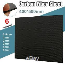 400x500mm Plaque En Fibre De Carbone Feuille Panneau 3k Mat Weave Twill Véhicule