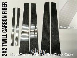 6pc 2x2 Twill Real Carbon Fiber B Pillar Panel Covers For 06-11 W164 Ml63 Ml350