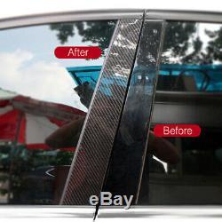 6pcs 2x2 Sergé Real De Fibre De Carbone Window Panneaux Pour Pilier 15-20 Golf VII Gti R