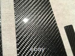 6pcs 2x2 Twill Real Carbon Fiber Window Pillar Panel Covers For 09-16 A4 S4