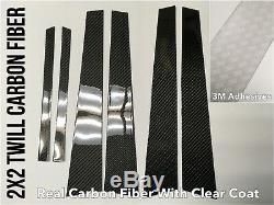 6x 2x2 Couvertures De Panneau De Pilier En Fibre De Carbone Pour 12-19 Bmw F30 F80 M3 335i 328i