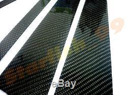 8x 3d Brillant Véritable Sergé B-fiber De Carbone B-pilier Post Cover Pour 08-11 Bmw X6 E71 / / M