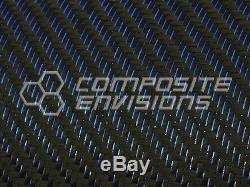 Blue Reflections Tissu En Fibre De Carbone 2x2 Twill 50 3k 5.9oz Remnant Roll 412