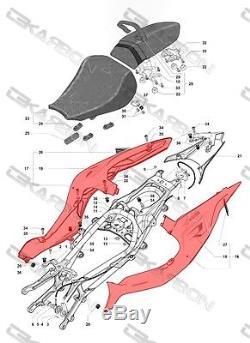 Carénages Latéraux En Fibre De Carbone MV Agusta F4 2010 2013 Tissés 2x2 Sergé