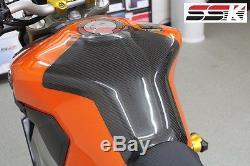 Coussin De Réservoir En Fibre Plein Carbone Ssk Pour Yamaha Fz-09 / Mt-09 Twill Glossy