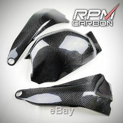 Ducati Panigale V4 / V4s En Fibre De Carbone Le Bras Oscillant Cover Set Twill Brillant