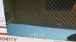 Feuille De Panneau De Fibre De Verre De Fibre De Carbone 18 × 24 × 1/4 1/4 Brillante Sergé 4x4 D'un Côté