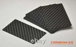 Fibre De Carbone 3k Twill Universal Blank Cartes De Visite 25 Pcs