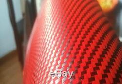 Fibre De Carbone / Tissu De Tissu Kevlar Rouge 2x2 Twill 50 3k 5.5oz
