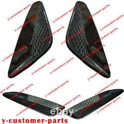 Fibre De Carbone Twill Hood Vent Grille Air Duct Trim Fo Hyundai Genesis Coupé 13-16