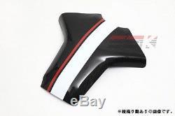 Garniture De Réservoir En Fibre De Carbone Pleine Ssk Pour Yamaha Fz-09 / Mt-09 Sergé Brillant Rouge Blanc