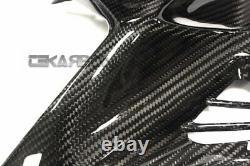 Kawasaki Ninja H2 Carbon Fiber Side Tank Panels 2x2 Twill 2015 2019 Kawasaki Ninja H2 Carbon Fiber Front Tank Panels 2x2 Twill