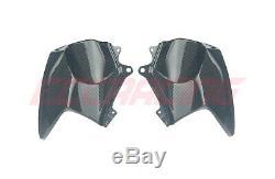 Kawasaki Ninja H2 Sx / Se Plus Fibre De Carbone Avant Couvercles De Réservoir / Tôle De Protection Sergé