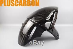Kawasaki Ninja H2 Sx Se Twill Fibre De Carbone Garde-boue Avant / Garde-boue Brillant