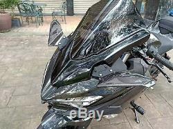 Kawasaki Ninja H2r Ninja 400 Sergé En Fibre De Carbone Winglets Brillant