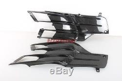 Kawasaki Zx14 2012 2013 2014 Fibre De Carbone Sous Tank Fittings Twill Weave Glossy