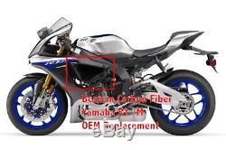 Les Garnitures Latérales De Fibre De Carbone De Sergé D'oem De 2015-2018 Yamaha R1 R1m Couvrent Les Carénages De Couverture D'ecu