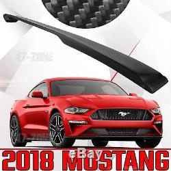 Nouveau Pour 2018 Ford Mustang Véritable En Fiber De Carbone Twill Noir Mat Spoiler