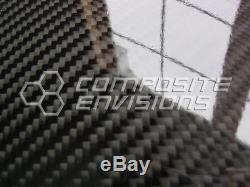Panneau En Fibre De Carbone. Epoxy-12 X 24 Twill 255 / 6.5mm 2x2