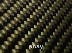 Panneau En Fibre De Carbone Fabriqué Avec Du Jaune Kevlar. 012/. 3mm 2x2 Twill-24x48