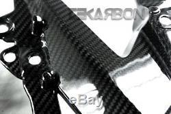 Panneaux De Carénage Latéraux En Fibre De Carbone Kawasaki Zx6r 2009 2012 Tissés En Twill 2x2