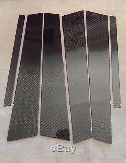Panneaux Réels De Pilier De Fibre De Carbone De Sergé De 6pc 2x2 Pour 06-13 Isf Is250 Is350 Sxe20