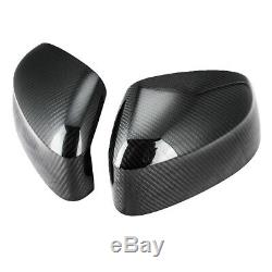 Pour 14-17 Bmw X5 F15 Real Black Carbon Miroir Côté Fibre Embout De Recouvrement Garniture