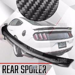 Pour 15 16 17 Ford Mustang Trunk Spoiler Real Carbon Fiber