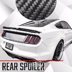 Pour 15-17 Ford Mustang Gloss Véritable Fibre De Carbone Aileron Arrière Wing Racing Style