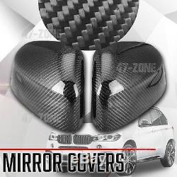 Pour 2014-17 Bmw X5 F15 Noir Réel En Fibre De Carbone Miroir Côté Couverture De Rechange