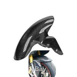 Pour Bmw S1000rr 2009-2018 En Fibre De Carbone Garde-boue Avant Garde-boue Hugger Couverture Sergé