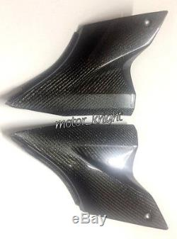 Protections Sous-réservoir Pour Protections Latérales En Fibre De Carbone Kawasaki Zx10r 06-07 Twill Glossy