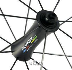 Roulement Céramique Carbon Hub Roues 50 MM Profondeur Route Carbone Wheelset 12k Sergé