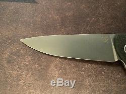 Shirogorov Hati Verrouiller Couteau Sergé En Fibre De Carbone M390 Sur Les Vieilles Rondelles Scolaires