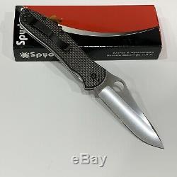 Spyderco Gayle Bradley 2 Couteaux C134cfp2 En Fibre De Carbone Twill En Cpm M4 Nouveau