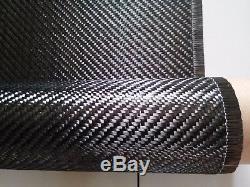 Tissu De Fibre De Carbone De Sergé 6k 320gsm 100cm Large 10m Long