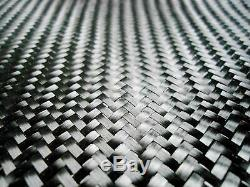 Tissu En Fibre De Carbone 6,2 Oz 2x2 Twill X 50 Large 10 Cour Rouleau Long. Nouveau