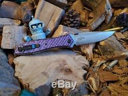 Tolérance Zéro Zt0640 Scales Violet Twill (couteau Non Inclus)
