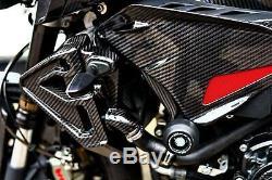 Yamaha Fz-10 / Mt-10 Panneaux Latéraux En Fibre De Carbone Brillant Sergé