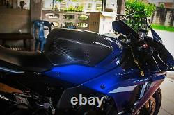 Yamaha R1 Fibre De Carbone Full Tank Extender Cover Wsbk Suaire Extender